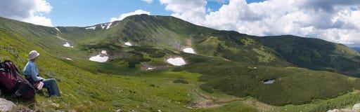 Mountain ridge Stock Images