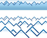 Mountain ridge. Vector illustration of mountain ridge in blue. You can use each shape separately Stock Photography