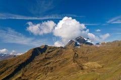 Mountain ridge. In Swiss Alps Royalty Free Stock Photography