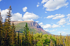 Mountain Ridge against a summer sky Stock Photo