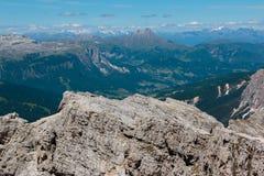 Mountain Ridge among Barren Mountains in Italian Dolomites Alps Royalty Free Stock Photography