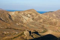 Mountain. Ridge Biyuk-Anychar, Koktebel, Crimea Stock Photo
