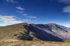 Mountain ridge in bulgarian central mountain Royalty Free Stock Photo