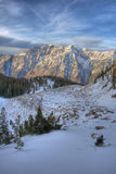 Mountain ridge and clouds #2. High alpine cottonwood ridge wasatch mountains utah Royalty Free Stock Photography