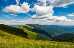 Mountain ridge on a cloudy day. Gorgeous landscape in summer Stock Photo