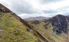 Mountain ridge in Dingle peninsula stock photos