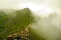 Mountain ridge in fog. Tatra Mountains Stock Photos