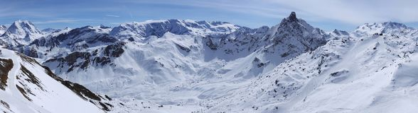 Mountain ridge in Alps stock images