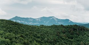 Mountain ridge landscape. Stock Images