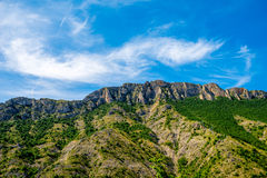 Mountain ridge near Matka canyon in Macedonia Royalty Free Stock Images