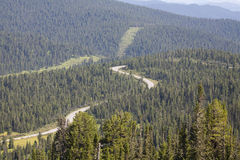 Mountain ridge. Rocks. Sayan Mountains. Russia. Royalty Free Stock Photography
