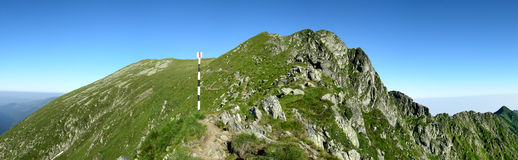 Mountain ridge in Romania Royalty Free Stock Image