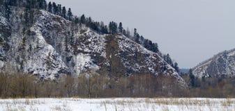 Mountain ridge of Sihote-Alin in the winter Royalty Free Stock Photos