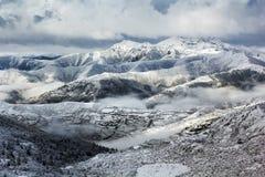 Mountain ridge snow landscape Stock Image