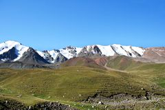 Mountain ridge with snow, North Tien-Shan Royalty Free Stock Photo