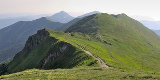 Mountain ridge Steny from Chleb in Mala Fatra mountains Royalty Free Stock Photography