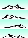 Mountain ridge stylized illustration in black and white Royalty Free Stock Images