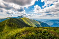 Mountain ridge and valley in beautiful Carpathians Stock Photo