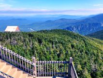 The mountain ridge views from Cannon Mountain. Cannon Mountain is a peak in the White Mountains of New Hampshire United States.The views of mountain ridge and stock photos