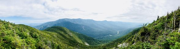 The mountain ridge views from Cannon Mountain. Cannon Mountain is a peak in the White Mountains of New Hampshire United States.The views of mountain ridge and stock images