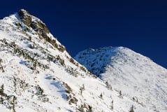 Mountain ridge in winter stock photo
