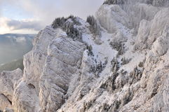 Mountain ridge in winter on Hasmas mountains Royalty Free Stock Photography