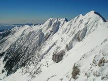 Mountain ridge in winter on Piatra Craiului Royalty Free Stock Image