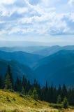 Mountain ridges of bright sunny day Stock Image