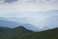 Mountain ridges in the Carpathian mountains Royalty Free Stock Photography