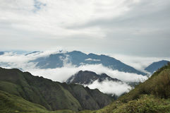 Mountain Ridges and Clouds Stock Image
