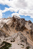 Mountain ridges. With clouds, Cortina d'Ampezzo Stock Photos