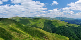 Mountain Ridges Covered With Meadows Royalty Free Stock Photography