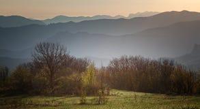 Mountain ridges at dawn Royalty Free Stock Photo