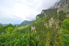Mountain and ridges in Schwangau Stock Photography