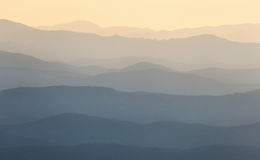 Mountain ridges at sunrise Stock Photo