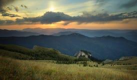 Mountain ridges at sunset Royalty Free Stock Photos