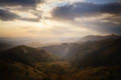 Mountain ridges at sunset Royalty Free Stock Image