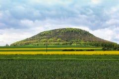 Mountain Rip near Roudnice nad Labem. Czech landscape.  Stock Images