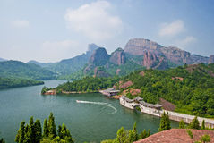 Mountain and river. In southern of China royalty free stock images