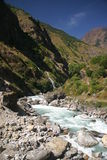 Mountain river. Near Annapurna, Nepal Stock Images