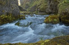 Mountain river. Iceland royalty free stock images