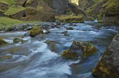Mountain river. Iceland stock image
