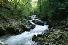 Mountain river. The fast water of the mountain river Stock Photo