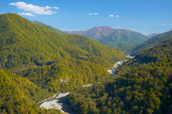 Mountain river. Background of a river in the mountains Stock Images