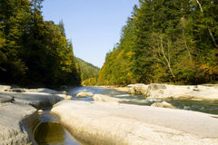 Mountain river. Close up water on a mountain river Royalty Free Stock Photo
