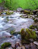 Mountain River. Beautiful Mountain River. Long exposure Royalty Free Stock Image