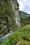 Mountain river in Abkhazia Stock Image