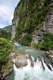 Mountain river in Abkhazia Stock Photo