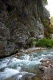 Mountain river in Abkhazia Royalty Free Stock Photos