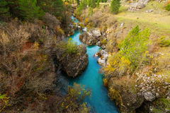 Mountain river in autumn Stock Photo
